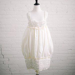Modern Mod Wedding Dress Platinum by Priscilla 4
